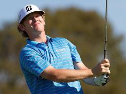 Brandt Snedeker eyes his tee shot on the third hole during the final round of the Farmers Insurance Open at Torrey Pines on Sunday.