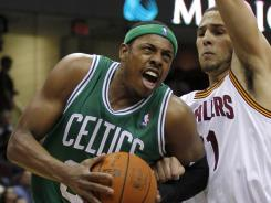Paul Pierce led the way with 20 points and the Celtics avoided another late collapse vs. the Cavaliers.