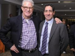 HBO boxing broadcaster Jim Lampley, left, and President of HBO Sports Ken Hershman will be working together after years of Hershman leading Showtime's boxing effort.
