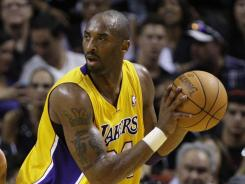 Lakers star Kobe Bryant earned his record-tying 14th consecutive All-Star starting spot.