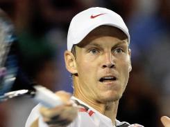 Tomas Berdych of the Czech Republic, shown here at the Australian Open, advanced to the quarterfinals of the Open Sud de France on Thursday.
