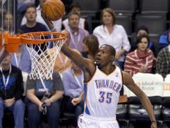 KEVIN DURANT leads Thunder in fourth quarter-rally against Grizzlies