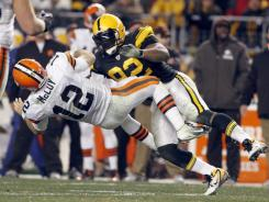 This hit from James Harrison of the Pittsburgh Steelers on Colt McCoy of the Cleveland Browns prompted a rule shift.