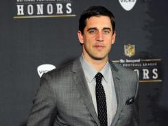 Green Bay Packers quarterback Aaron Rodgers 2011 Associated Press NFL Most Valuable Player award in a landslide Saturday night.