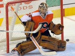 Flyers goalie Sergei Bobrovsky allowed a career-worst six goals on 23 shots before getting replaced by Ilya Bryzgalov in the second period.
