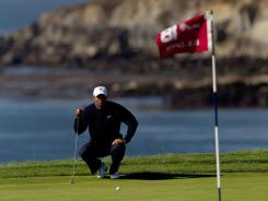 Tiger Woods, on the 18th green at Pebble Beach during the 2010 U.S. Open, returns to Pebble Beach this week for the AT&T National Pro-Am.