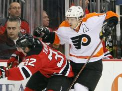 Philadelphia Flyers center Danny Briere hadn't played since a Jan. 21 game against the New Jersey Devils.