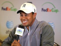 Tiger Woods meets the media on Tuesday in advance of the AT&T pebble Beach National Pro-Am, his PGA Tour season debut.