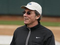 Oakland Athletics general manager Billy Beane, shown here during spring training in 2010, has agreed to remain at the helm until 2019. Oakland is the only Major League franchise Beane has ever worked for.