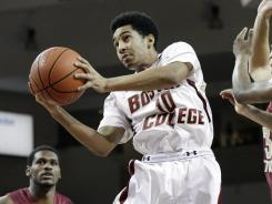 Jordan Daniels (10) scored 19 points to lead Boston College to its first win over a ranked team in three years.