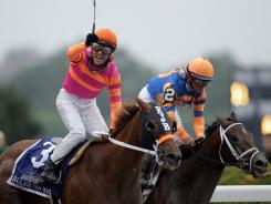 Jose Valdivia, Jr. rode Ruler on Ice to victory in the Belmont Stakes last June, but Rosie Napravnik will ride the horse in the Donn Handicap Saturday.