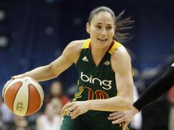 Point guard Sue Bird averaged 14.7 points, 4.9 assists and 2.9 rebounds for the Storm in 2011.
