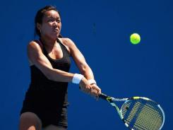 Vania King of the USA, shown here during the Australian Open, has reached the quarterfinals of the Pattaya Open.