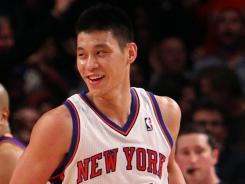 Jeremy Lin is rising to expectations as the Knicks take on the Los Angeles Lakers at Madison Square Garden.