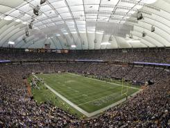 The Vikings hope to replace the Hubert H. Humphrey Metrodome with a more modern structure.