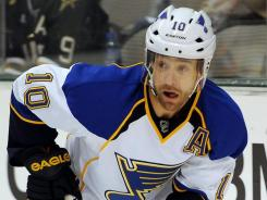 St. Louis Blues center Andy McDonald has been out since an Oct. 13 game against the Dallas Stars.