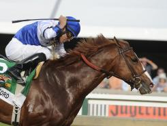 Shackleford, here winning the Preakness Stakes in May 2011, faded down the stretch on Saturday, finishing seventh.