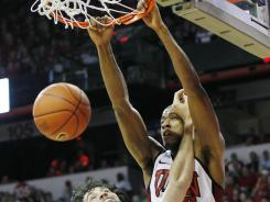 Mike Moser scored 19 points and made a key steal that sent No. 16 UNLV past No. 14 San Diego State 65-63 on Saturday