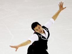 Patrick Chan of Canada competes in the Men's Short Program during the ISU Four Continents Figure Skating Championships at World Arena in Colorado Springs, Colorado. Chan posted a season-best 185.99 points in the men's free skate to claim the title with 273.94 points.