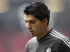 In Liverpool's match on Saturday, Luis Suarez refused to shake the hand of Manchester United's Patrice Evra, whom he earlier had uttered a racial slur at during an October 2011 match.