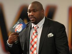 The NFL Network's Warren Sapp hit radio row during Super Bowl week.