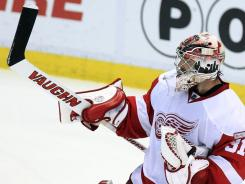 Joey MacDonald has been in net for the Red Wings' last three home wins.