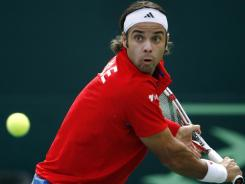Fernando Gonzalez, shown here in a Davis Cup match in September, is set to retire from professional tennis in March.