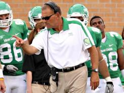 North Texas coach Dan McCarney led his team to a 5-7 record in his first season with school