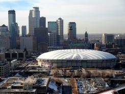 The Vikings are still trying to line up a plan to replace the 30-year-old Metrodome.