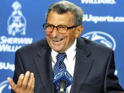 Former Penn State coach Joe Paterno died at the age of 85 on Jan. 22, 2012.