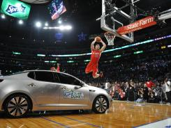 Los Angeles Clippers forward Blake Griffin won last year's dunk contest jumping over a Kia, but he won't return to defend the title.
