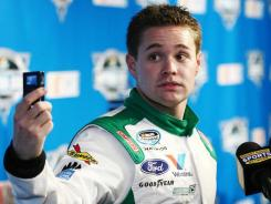 Ricky Stenhouse Jr., pictured at Thursday's Daytona 500 media day, wants to get a chance in NASCAR's Sprint Cup Series, just like the chance Jeremy Lin is finally getting with the Knicks.