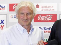 Bayer Leverkusen sporting director Rudi Voeller was incensed by his player's behavior during their match against Barcelona.
