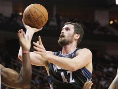 Kevin Love had 53 points and 32 rebounds in two games over the weekend, both Timberwolves victories.