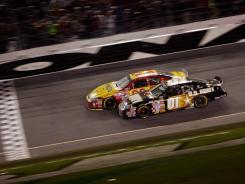 Inches were the difference in 2007 between Kevin Harvick (in yellow car) owning a Daytona 500 championship instead of Mark Martin, who is winless in the Great American Race.