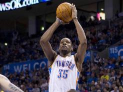 Kevin Durant's 51 points are a career high and the most in the NBA this season.
