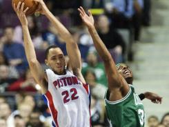 Tayshaun Prince (22) had 13 points and six rebounds to help the Pistons to their seventh win in nine games.