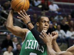 Rajon Rondo was ejected from Sunday's game against the Pistons after arguing with referee Sean Wright and throwing a ball at him.