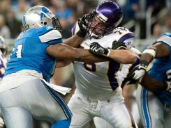 Vikings G Steve Hutchinson (76) has put together a Hall of Fame-caliber resume in his 11-year NFL career.