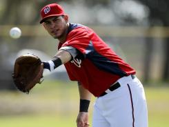 Nationals catcher Wilson Ramos reports to the team's first official workout for pitchers and catchers.