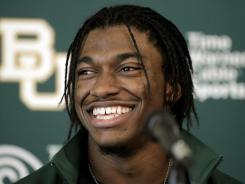 Heisman Trophy winner Robert Griffin III will join the NFL combine on Thursday.