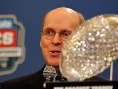 BCS executive director Bill Hancock is not in a rush to find a playoff system for the BCS.