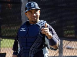 Mariners catcher Miguel Olivo is one of many players against in-season HGH testing.