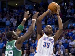 Kevin Durant had 28 points, nine rebounds, six assists and four steals to help the Thunder to their 11th consecutive home win.