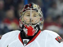 Ottawa Senators goalie Craig Anderson will have to miss time due to a hand injury he sustained while preparing himself a meal. Anderson currently holds a 2.85 goals-against average.