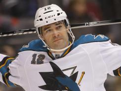 San Jose Sharks forward Patrick Marleau had two goals Thursday night, helping the Sharks to a 2-1 win over the Carolina Hurricanes.