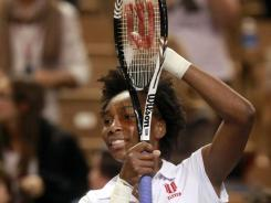 Venus Williams, celebrating at the Fed Cup on Feb. 5, was given a wild card to the Sony Ericsson Open.