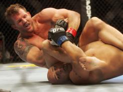 Ryan Bader, top, pictured in 2009, faces Quinton Jackson at UFC 144, to air Saturday in North America.