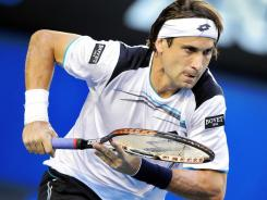 David Ferrer, shown here during the Australian Open, easily advanced to the semifinals of the Copa Claro tournament in Buenos Aires on Friday.