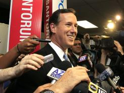 The campaign of GOP presidential candidate Rick Santorum, pictured, will advertise on the hood of Tony Raines' No. 26 car in Sunday's Daytona 500.